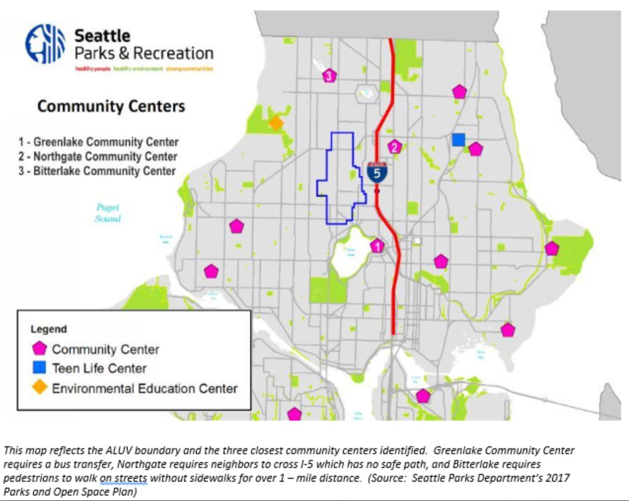 ALUV Boundaries and Seattle Community Centers