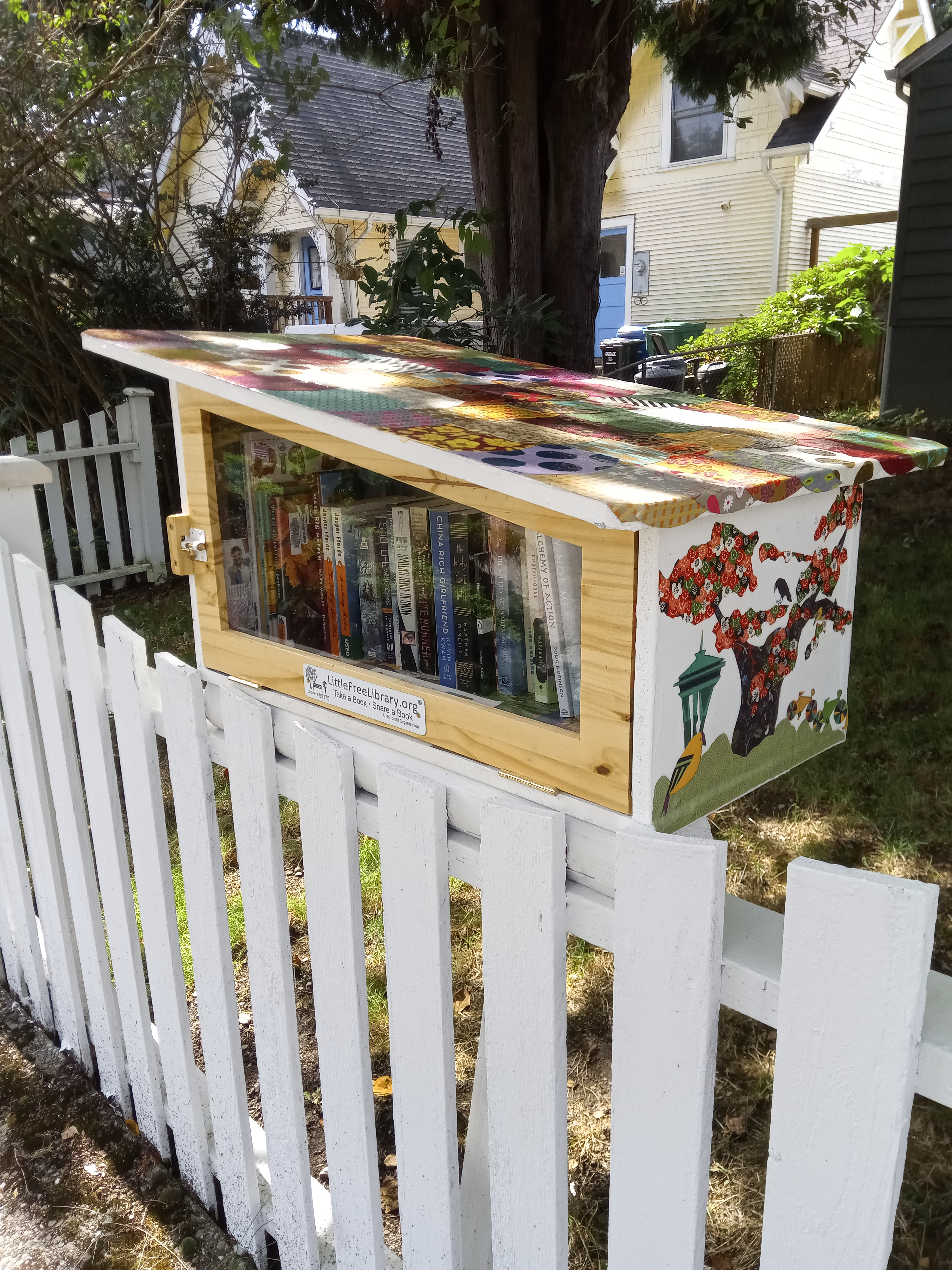 Little Free Library at 9033 Burke Ave N