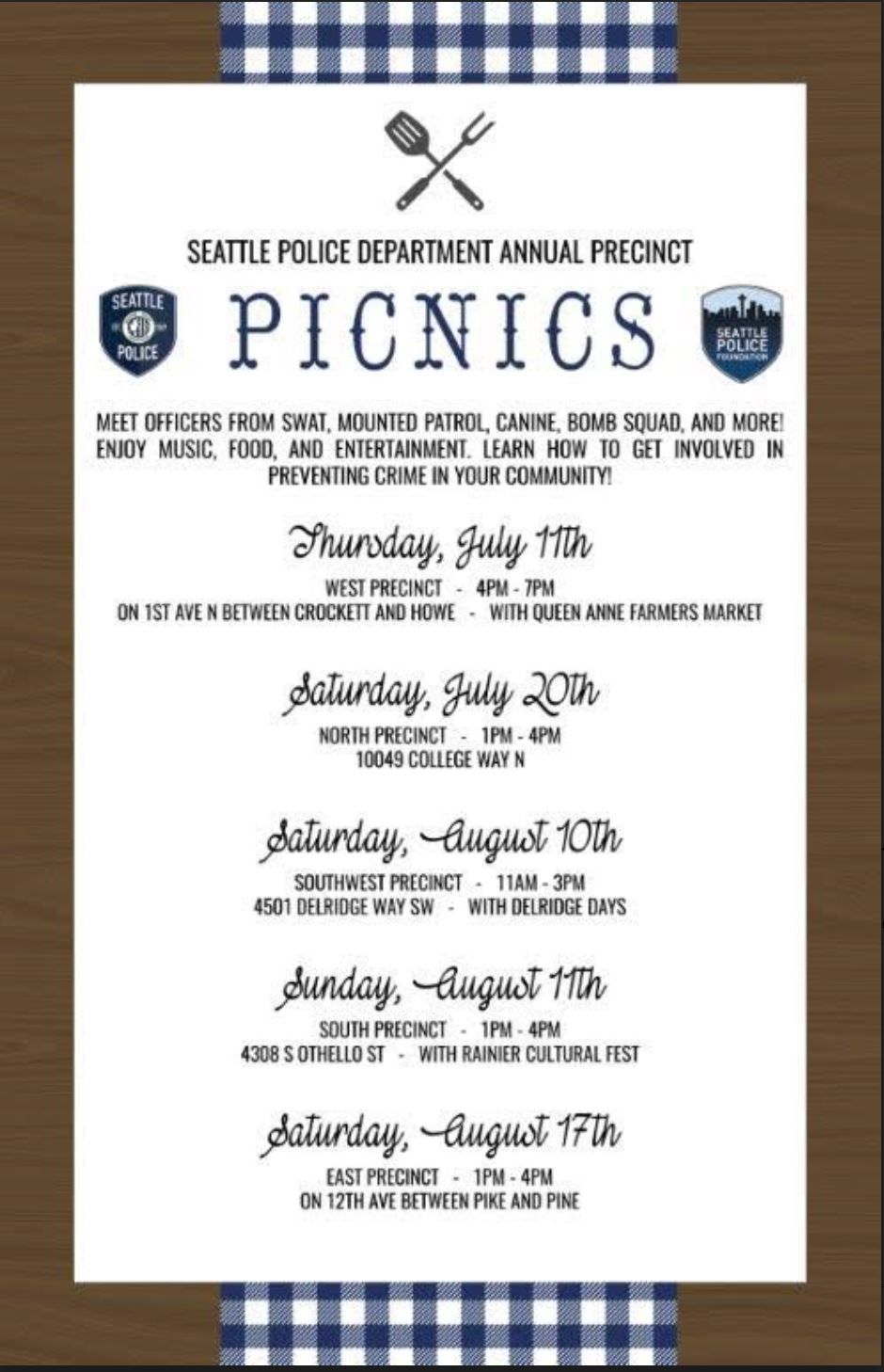 North Precinct Police Picnic
