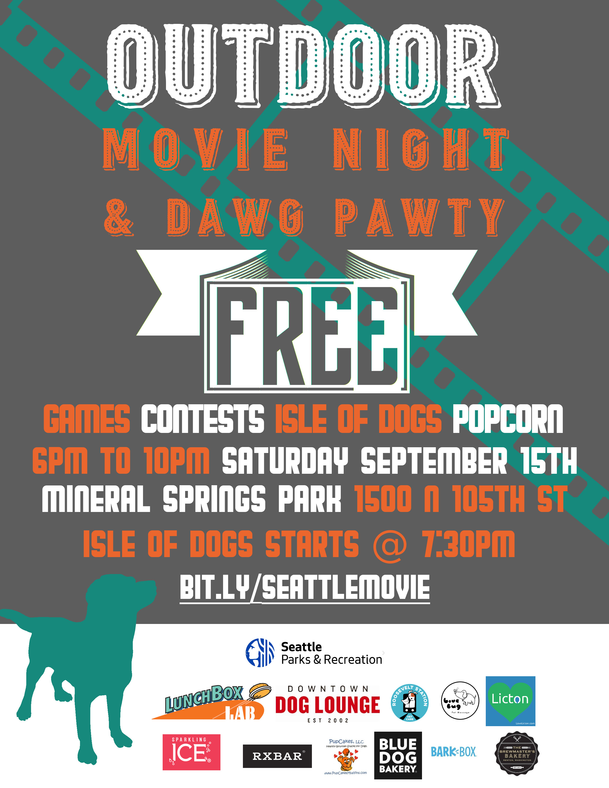 Outdoor Movie and Dog Pawty!