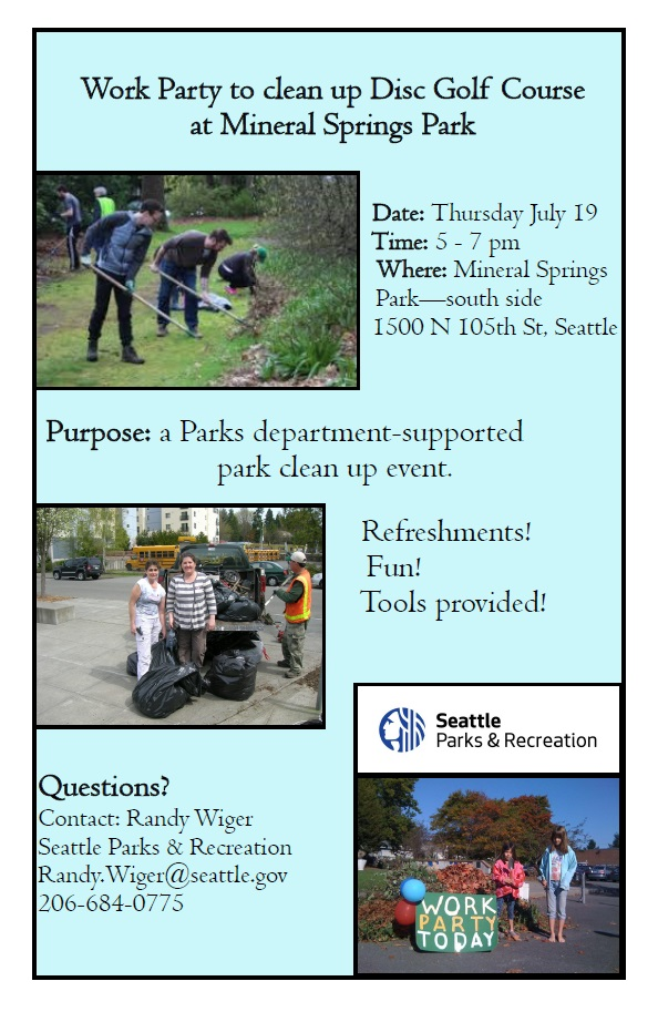 Mineral Springs Park Clean Up