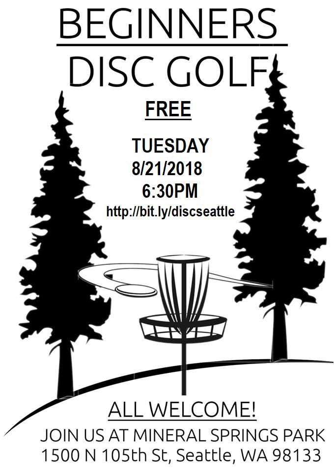 Beginner's Disc Golf Event Flyer